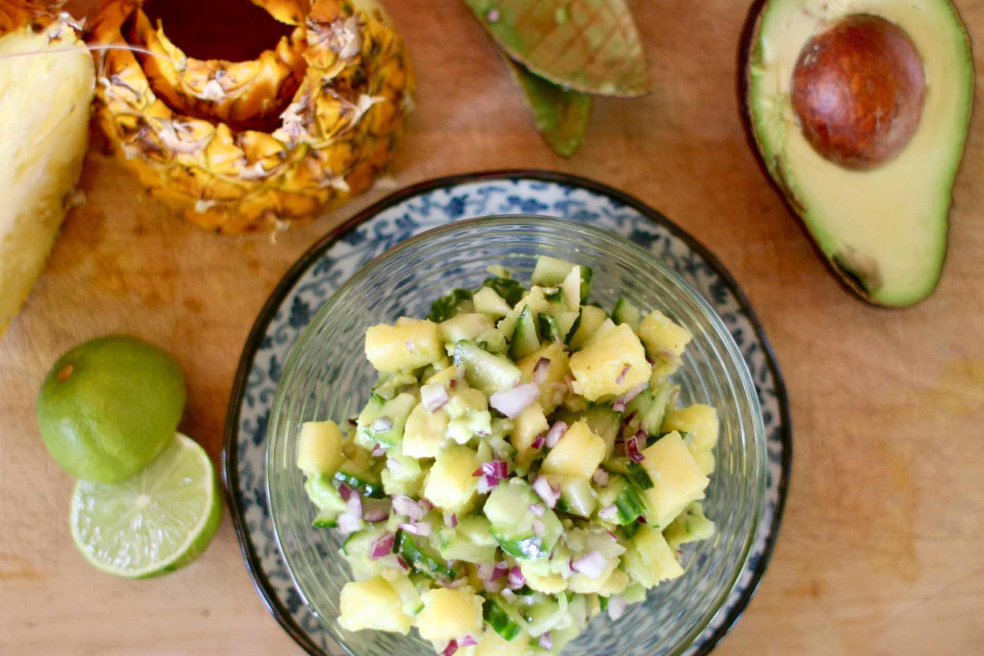 Rezept Ananas - Avocado Salsa