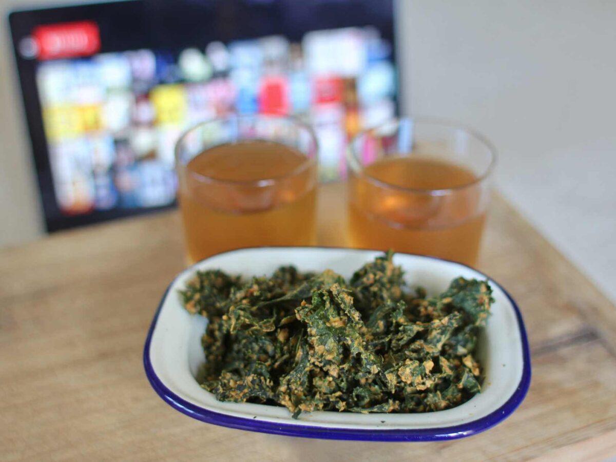Rezept BBQ Paprika Kale Chips