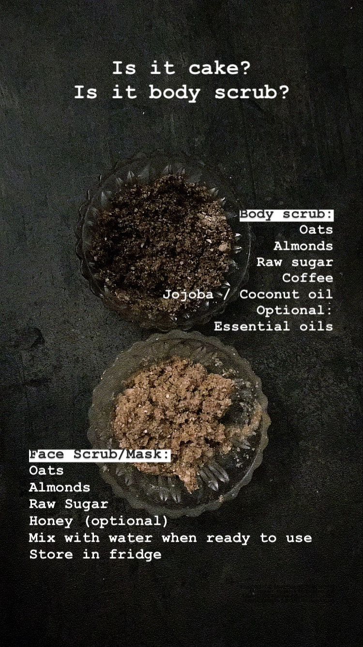 BEAUTY - NATURAL BODY SCRUB EXFOLIATOR AND FACE PEELING Ingredients for Recipe