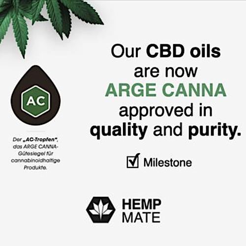 Hempmate Arge Canna Certified CBD Oil Full Spectrum Organic Rohtopia