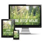 Deine Detox Woche – Smoothie Challenge – Online Kurs Programm – Saftkur – Saftfasten – Rohtopia Smoothiechallenge mit Obst und Gemüse vegan – Laptop Smartphone Tablet
